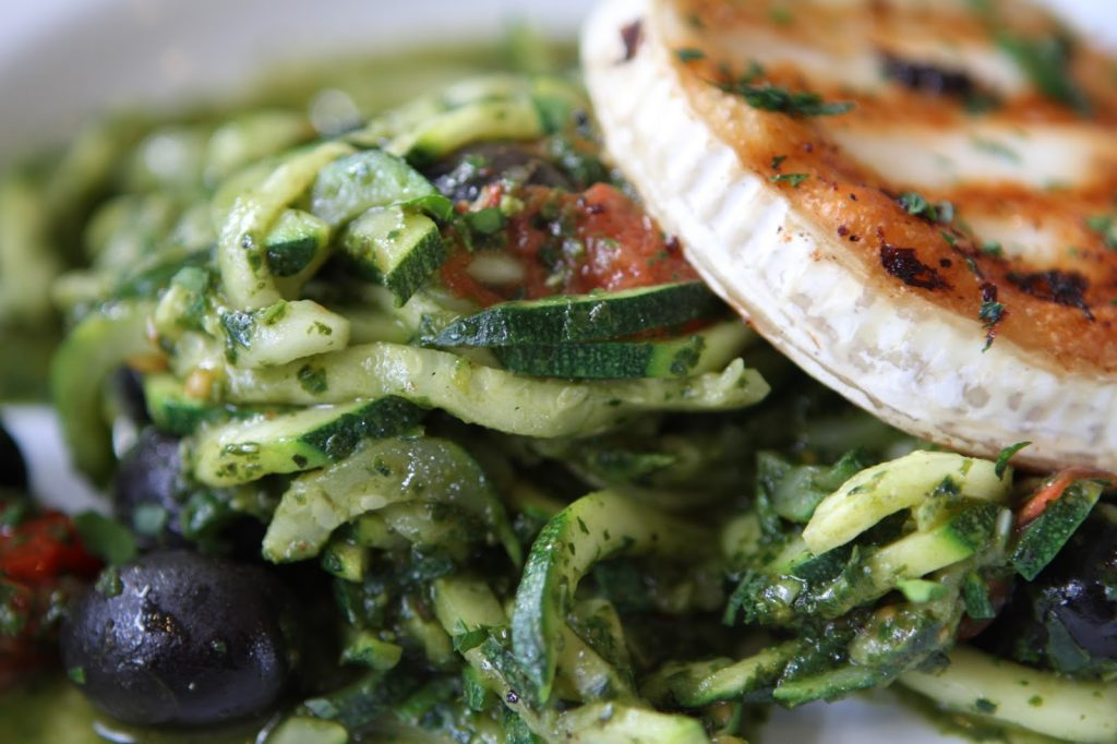 Courgetti and goats cheese
