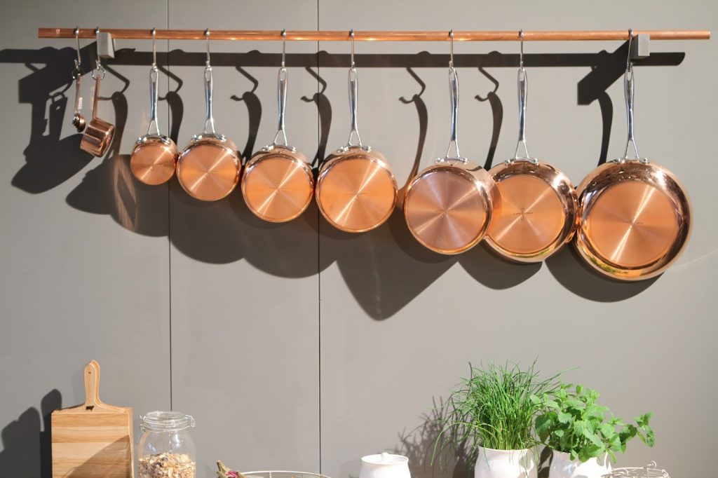 Copper homeware