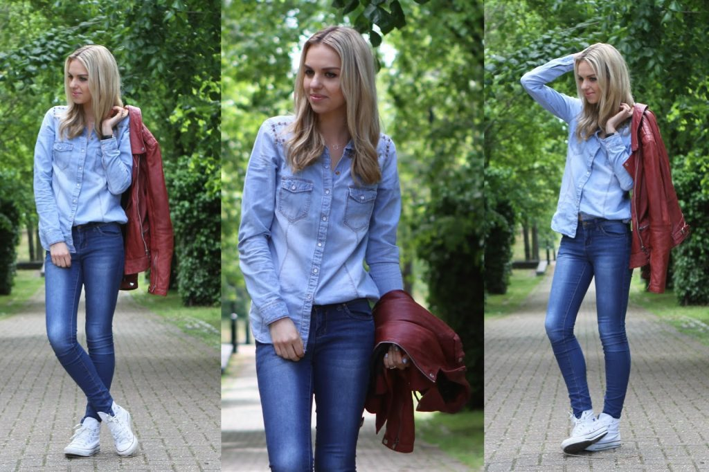 Casual double denim