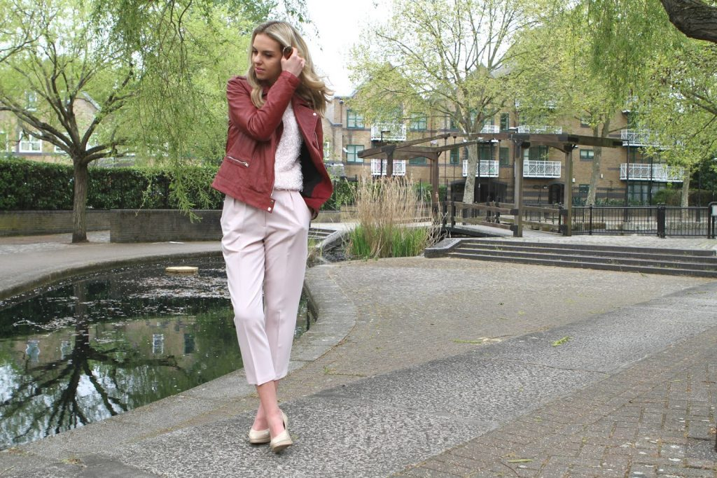 fashion blogger pink outfit