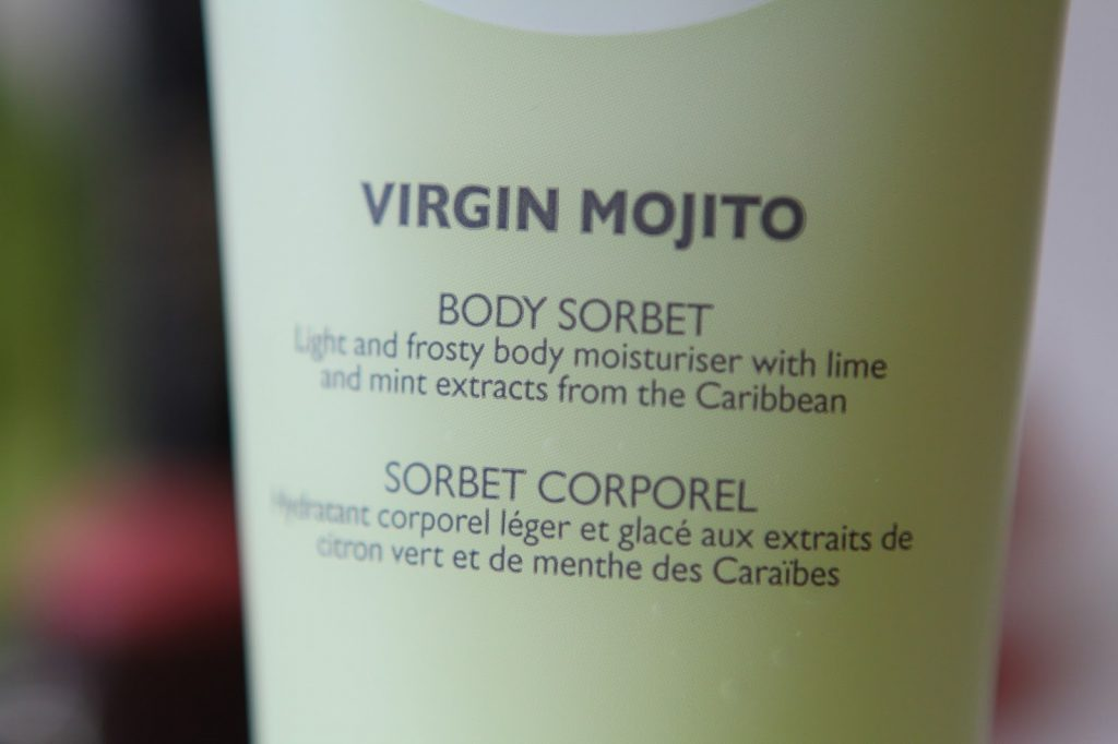 The body shop virgin mojito sorbet
