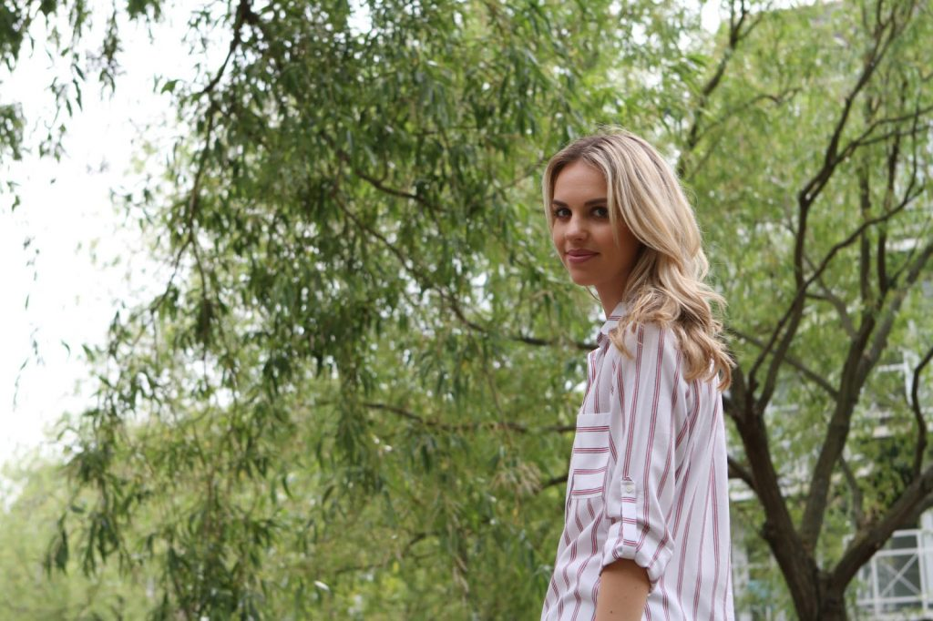 stripe zara shirt