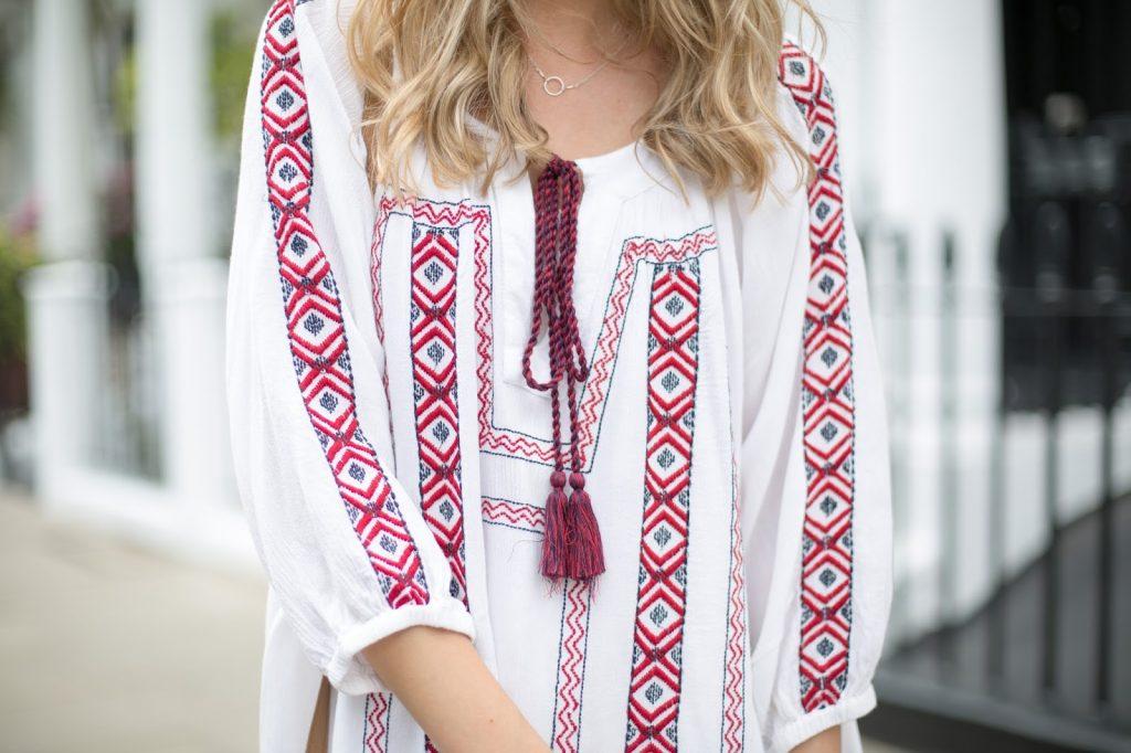 asos flowy white dress festival style