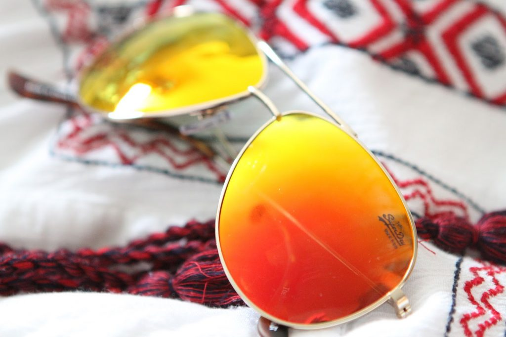 orange mirrored aviators