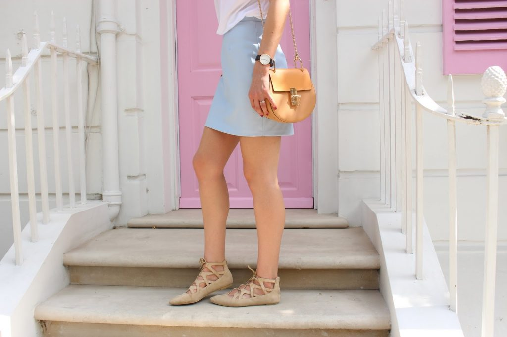 lace up flats chloe drew dupe